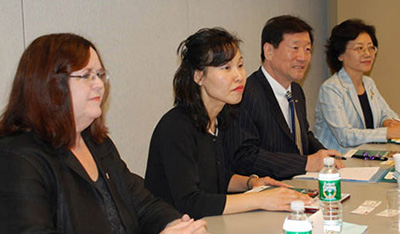 Elizabeth J. Clark and members of the Korean Association of Social Workers
