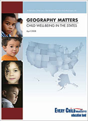 Geography Matters: Child Well-Being in the States (cover)