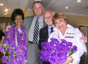 Bernice Harper, James Zabora, Hal and Lenne Lipton
