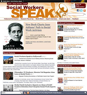 Social Workers Speak homepage