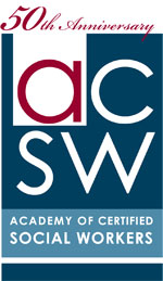 Academy of Certified Social Workers 50th logo