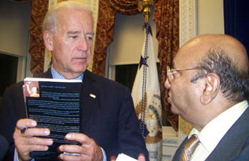 Joe Biden and Ram Ramanathan