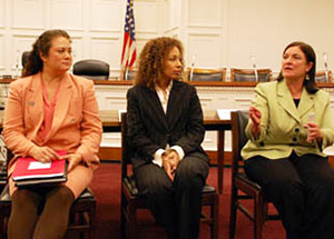 Suzanna Tiapula, Tamara Tunie and Theresa Covington