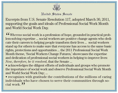 Social Work Month US Senate resolution