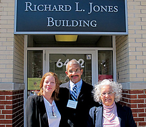 Richard Jones, Wilhelmina Manns, right, Shelly Johnson