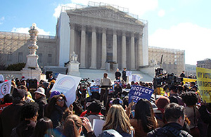 rally outside the U.S. Supreme Court