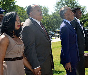 Martin Luther King III, Arndrea King, Al Sharpton