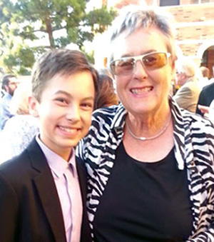 Actor Hayden Byerly with past NASW President Suzanne Dworak-Peck