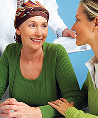 female cancer patient and female social worker