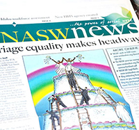 NASW News headline: Marriage equality makes headway