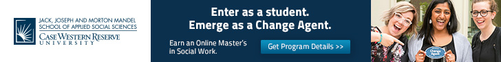 Case Western Reserve University: Enter as a student. Emerge as a change agent. Earn an online master's in social work.