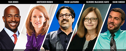 faces of five keynote presenters