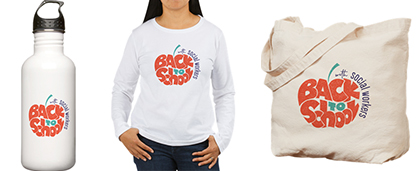 Back to School water bottle, t-shirt, bag