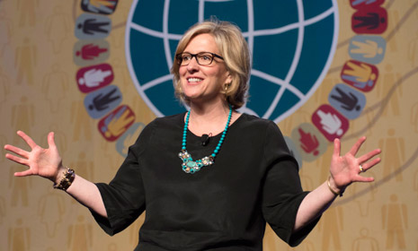 Brene Brown speaking on stage