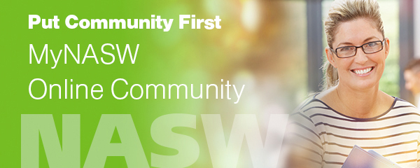 put community first: MyNASW Online Community
