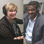 Mary Jo Monahan and Angelo McClain in the studio