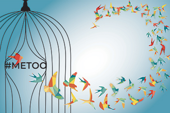 graphic of birds flying out of cage