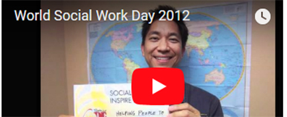 screenshot of 2012 social work month video
