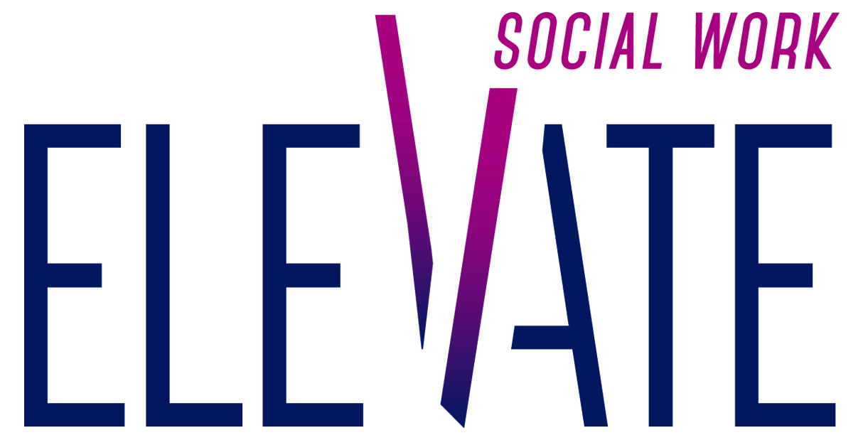 Elevate Social Work with tall letter V