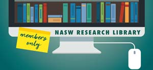 NASW research library graphic